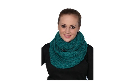 Womens Solid Knit Infinity Scarf Ultra-Light Soft Warm Scarves 6df3bc37-6977-4782-9ccc-10abd633c2bb