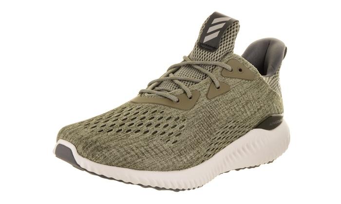 8e620c049152a Adidas Men s Alphabounce EM M Running Shoe Medium 9 Men US Green Gray