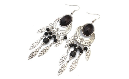 Black Boho Chic Earrings By Glamrina fa38beb6-1f8b-4a2d-a5e0-0b5c5a743ce4