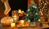 1.8FT Xmas Decor Festival Artificial Tabletop Mini Christmas Tree w/ Ornaments