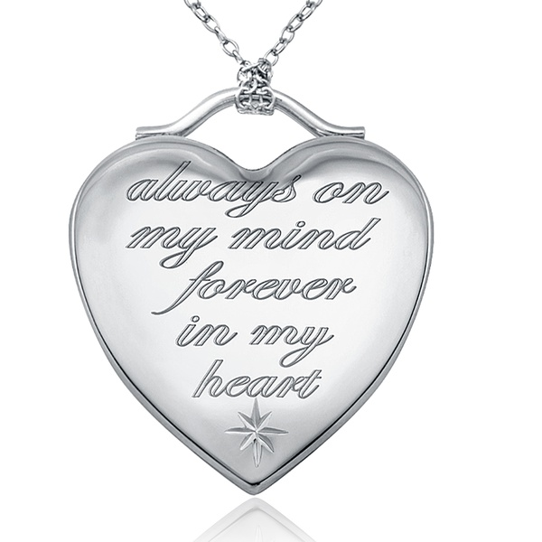 Silver Yellow Plated Special Lover Saying Pendant 24mm
