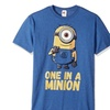 Despicable Me Men's Tee Minions Stuart One In A Million Funny Graphic