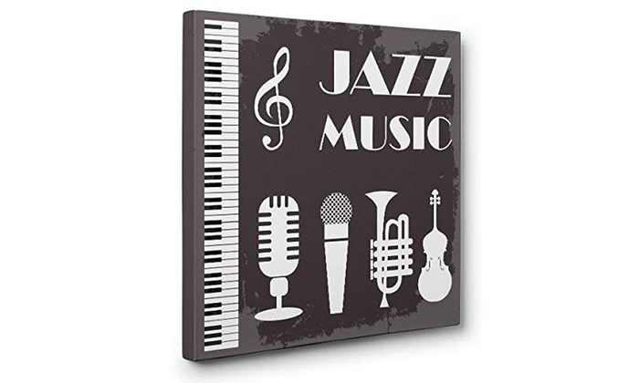 Jazz Music Gray CANVAS Wall Art Home Decor