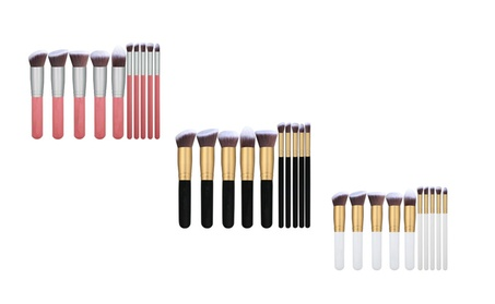 10 Pieces Professional Soft Makeup Brush Set Black/Pink/White a42d1f67-7857-4d30-ae52-3b248454821f