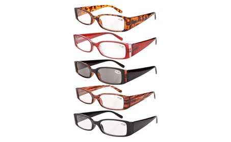 Eyekepper 5-pack spring hinge plastic reading glasses R040-5 pairs mix 0c2ad504-1937-44b4-af6c-2a585ab236b0