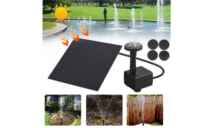 Solar Panel Powered Submersible Floating Fountain Garden Pool Pond Water Pump HS
