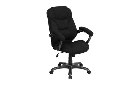Flash Furniture GO-725-BK-GG High Back Black Microfiber Upholstered b758d2df-a1b9-459f-898a-0d8ec9b96472
