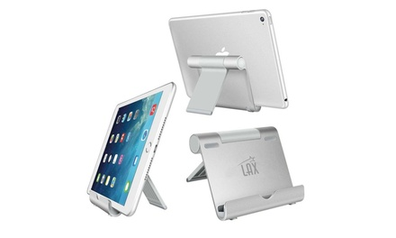 Adjustable Aluminum Tablet Stand for iPad, eReaders, and Smartphones