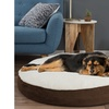 Large Brown Round 42 Inch Pet Dog Bed Memory Foam Pillow Top Reversible 5 Inch H