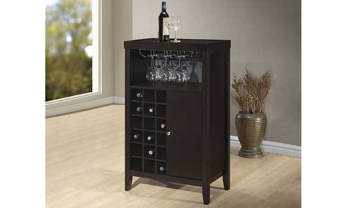 Closeout Gilbert Brown Modern Dry Bar And Wine Cabinet