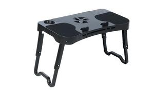 Laptop Table Stand with Integrated LED Light and Cooling Fan