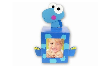 Blue Dino Bank with Picture Frame 07380399-89c4-4782-9bdc-a6c3d3fc6426