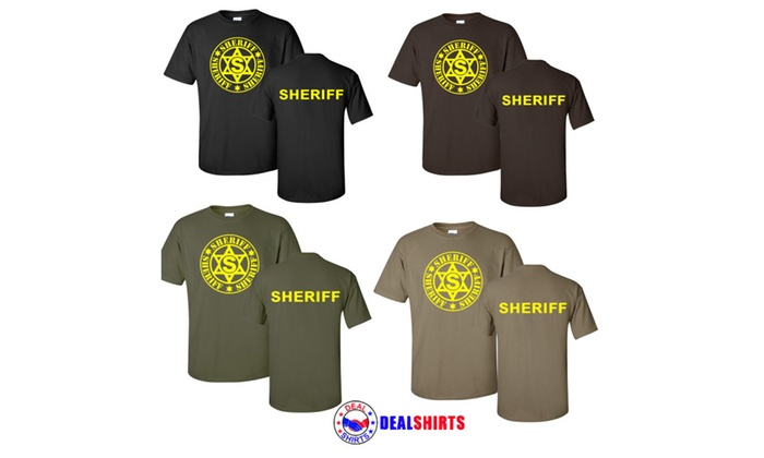 Deputy Sheriff Military Law Enforcements Polo T-shirts Military Green
