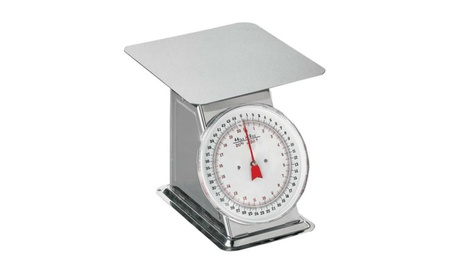 Weston 24-0302 Stainless Steel Flat Top Dial Scale, 44 lbs
