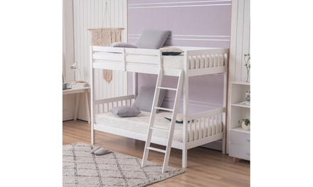 """Pine High Tall Mother and Child Bed Vertical Straight Headboard 65 """"H"""