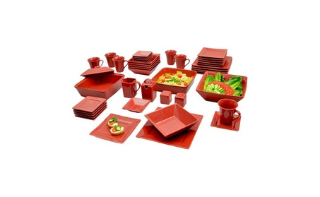 Corrina 45 Piece Square Dinnerware Set, Service for 6 ac3d7478-d355-4577-bff2-dce6ab3dcdd3
