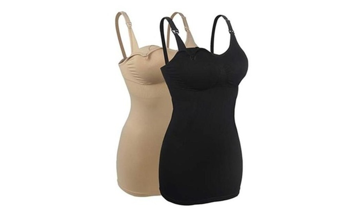 2378a84dfbc Up To 54% Off on 2Pack Seamless Nursing Cami T... | Groupon Goods