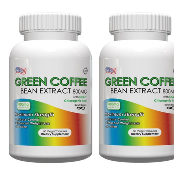2 Or 3 Bottles Green Coffee Bean Extract 800mg Per Serving 60 Vege