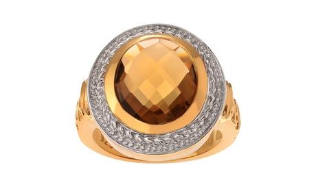 Journee Collection 14k Goldplated Sterling Silver Quartz Ring 1d27adda-fa17-471e-8809-68e3965777c2