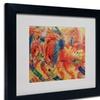 Umberto Boccioni 'The City Rises 1911' Matted Black Framed Art