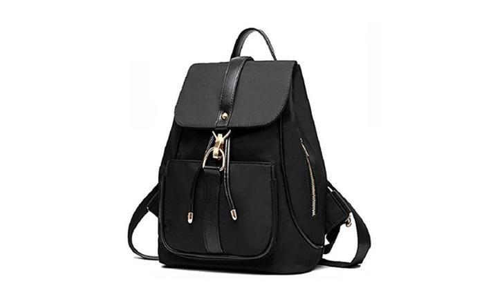 Holly Store Nylon Waterproof Backpack Leisure Shoulder Bag Travel Bag