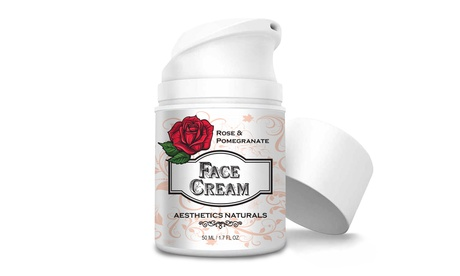 Face Cream Moisturizer with Rose and Pomegranate (1.7 OZ)