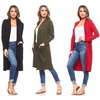 Isaac Liev Women's Long Cardigan With Front Pockets