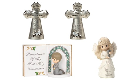 Precious Moments Communion Girl/Boy Figurines & Crosses (Goods For The Home) photo