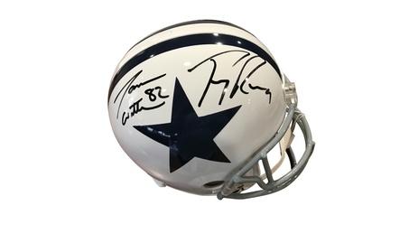 Autographed Jason Witten/ Tony Romo Dallas Cowboys Full Size Helmet eb0b7785-086d-419e-b2fa-c654af07a00e