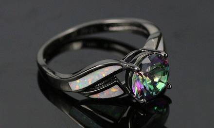 Leo Rosi Fire Opal Rings in Black Gold