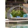 Bedford Outdoor Wicker Daybed with Water Resistant Cushion