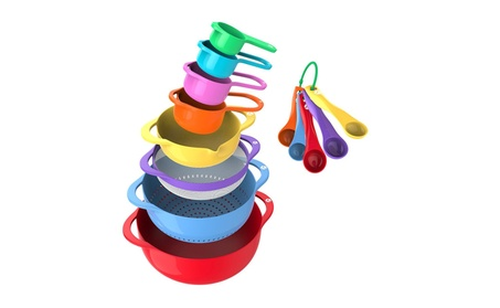 13 Piece Mixing Bowl Set - Stackable Nesting Kitchen Bowls with Handle f4edda15-0ea1-4874-97a5-33744f3d6ea4