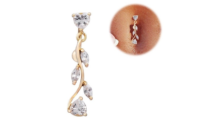 Up To 40 Off On Rhinestone Dangle Belly Butto Groupon Goods