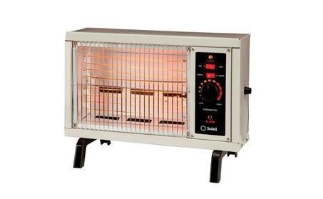 Soleil DF1609 Electric Radiant Heater, Thermostat, Black fe69e715-ca0d-43be-af15-3993f7639fc2