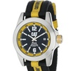 Big Twist Black Analog Dial with a Black and Yellow Nylon Strap Watch
