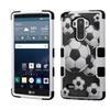 Insten Tuff Soccer Hard Hybrid Case For Lg G Stylo/g Vista 2 Blk/white