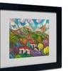 Manor Shadian 'Tropical Valley with Palms' Matted Black Framed Art
