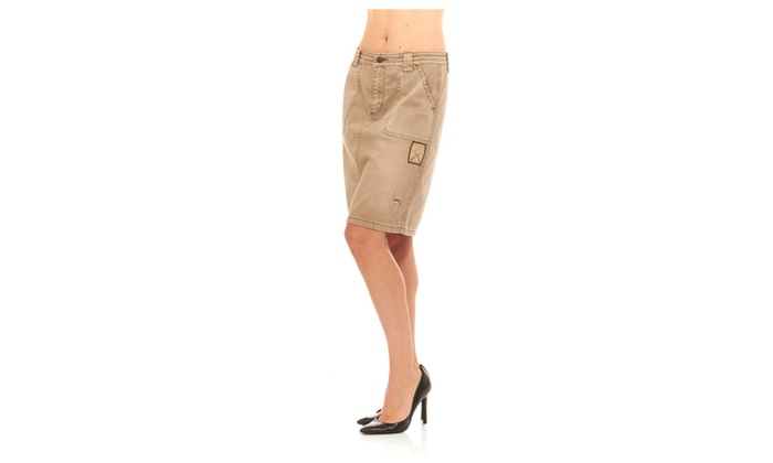 32329b233a31d Women Military Army Fatigue Camo Skirt By Red Jeans NYC   Groupon