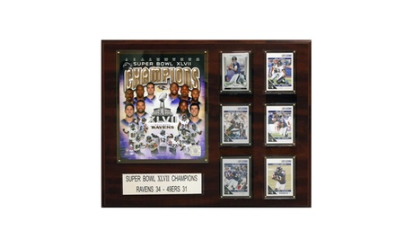 "NFL 16""x20"" Baltimore Ravens Super Bowl XLVII Champions Plaque d7f39c46-8b70-4ecd-8cef-c7bcd3783c8f"