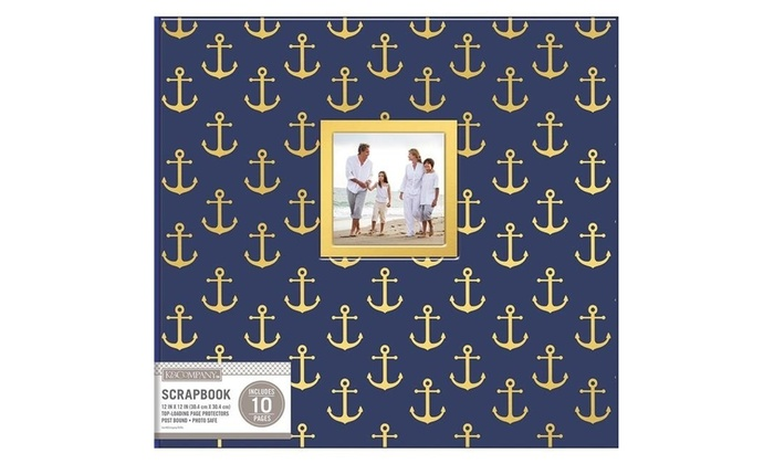 K Company 30706484 12 X 12 In Patterned Post Bound Window Album