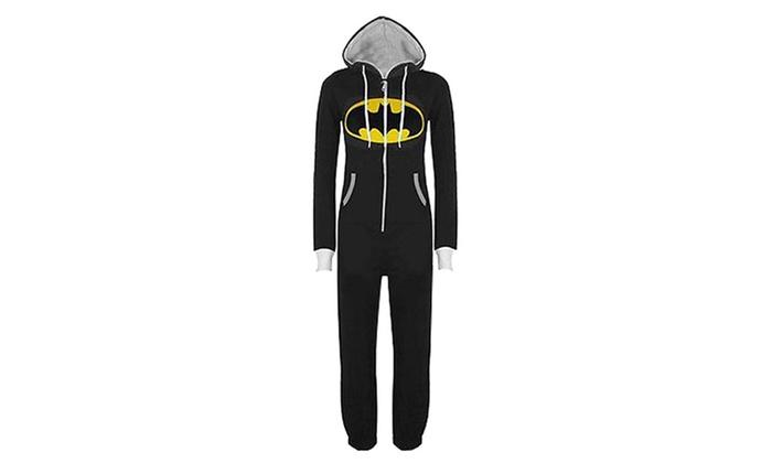 ... Superman Batman Hooded Unisex Costume Onesie Jumpsuit Pajamas b1154e413d73