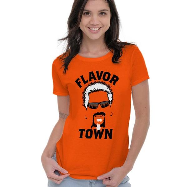 f04b805f8 Food TV Flavor Town Funny Meme Foodie Ladies T Shirt | Groupon