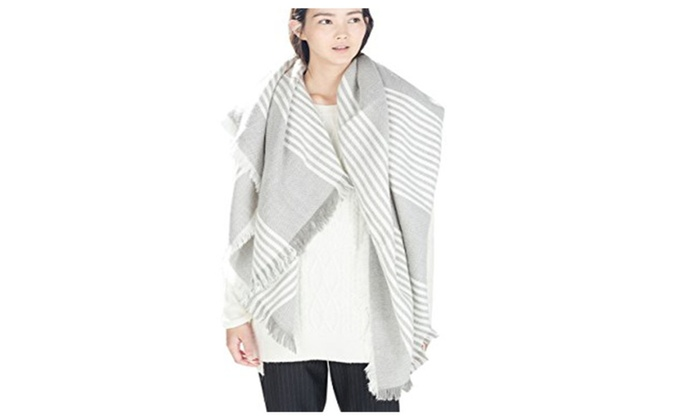 6247635d6 Briefly Women Blanket Wrap Shawl Plaid Cozy Pashmina Scarf | Groupon