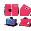 Insten Leather Fabric Case For Samsung Galaxy Note 5 Hot Pink/black