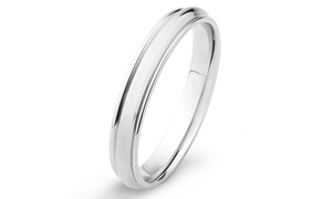 Polished Stainless Steel Grooved Ring