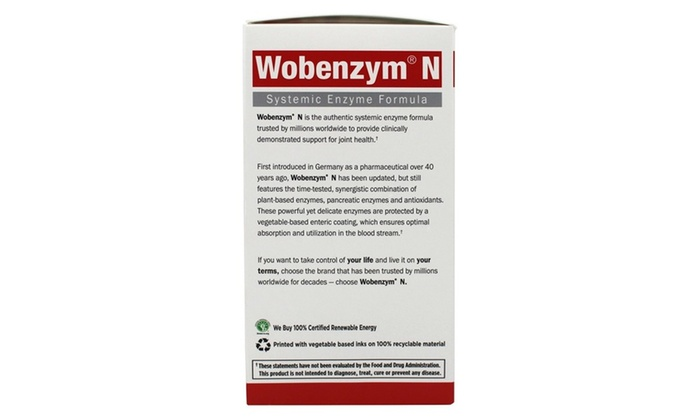 Up To 40% Off on Garden of Life Wobenzym N Joi    | Groupon