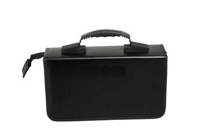 CD DVD DJ Equipment Organizer Holder Case Wallet Black Storage Bag ba241290-9916-459e-af46-ab5310b289a4