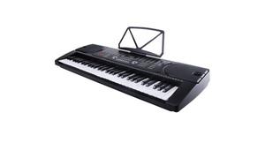 Digital 61 Key Music Electronic Keyboard with Microphone