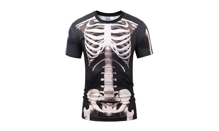 aef322cc5 Up To 50% Off on Men's 3D Graphic Skeleton Pri... | Groupon Goods