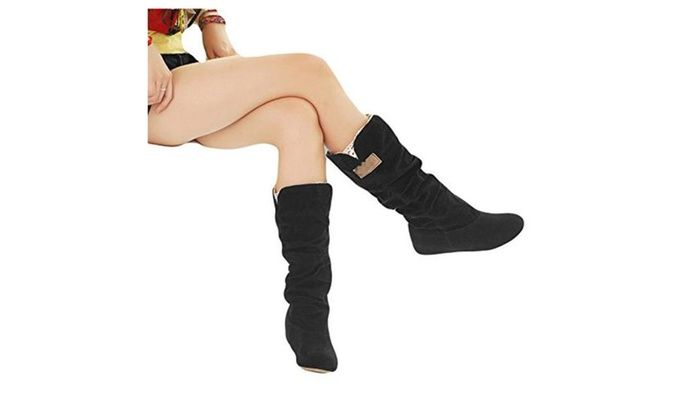 Women Ladies New High Boots Soft Warm Winter Shoes Snow Boots